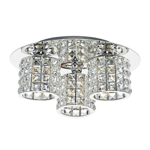 Agneta 3 Light Flush Polished Chrome AGN5350